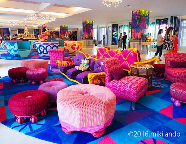 東京ディズニーセレブレーションホテル「ウィッシュ」ロビー