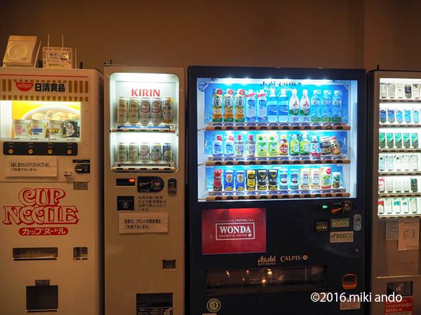AB HOTEL岡崎のカップラーメンとビールの自販機