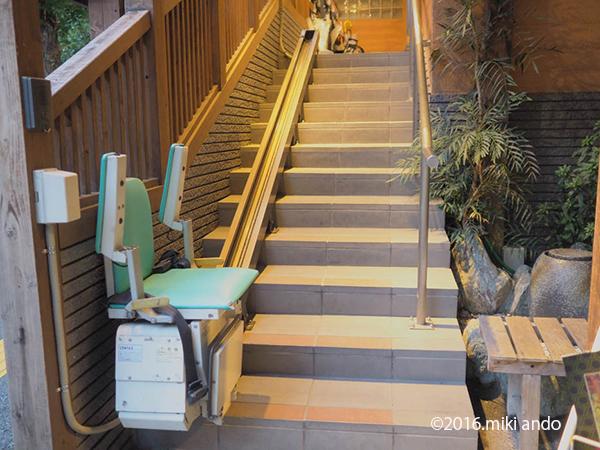 「ふくの湯」階段