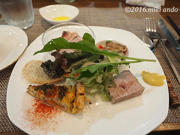 京都「ヒグチ亭」ランチの前菜