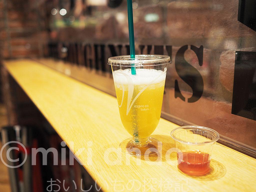 東京駅の酢専門カフェ「飲む酢 エキスプレ・ス・東京 」でお酢ドリンクをちょい呑み