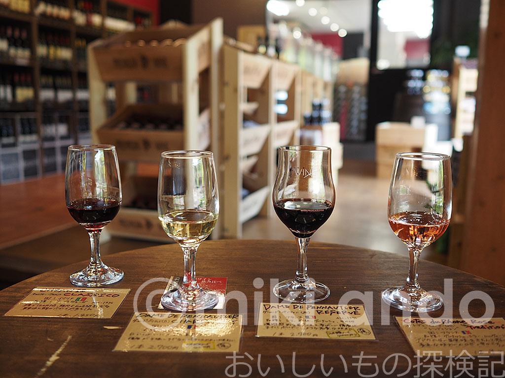 ワイン100種類!時之栖ワインショップの600円飲み比べが楽しい